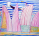 No. 464 Opera House and Striped Sea I, 1998